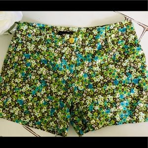 Willi Smith Green Floral Shorts